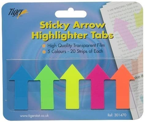Pack de 500 flechas de relieve pestañas página marcador oficina ...