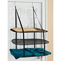 Deals on Greenco 3 Tier Over the Door Drying Rack GRC0240
