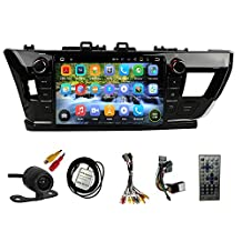 TLTek 9 inch HD 1024*600 Muti-touch Screen Car GPS Navigation System For Toyota Corolla 2014 2015 2016 Android DVD Player+Backup Camera+North America Map