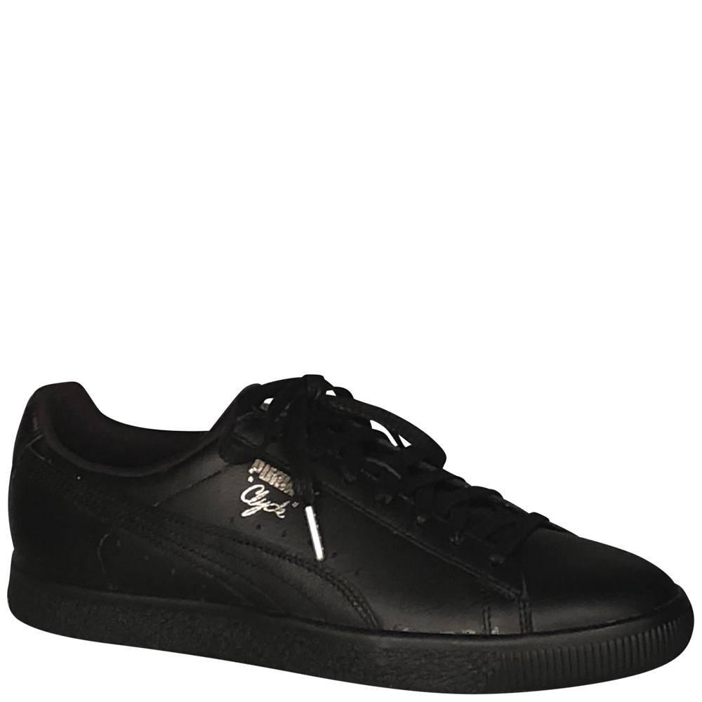 PUMA Men's Clyde Sneaker B06XGMF8BG 11.5 D(M) US|Puma Black/Puma Silver