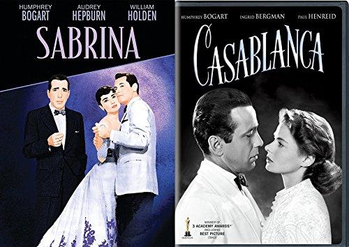 Award Winner Humphrey Bogart Casablanca DVD & Audrey Hepburn Sabrina Classic Screen Series Double Feature
