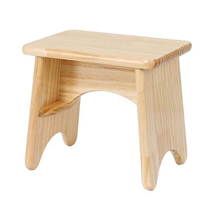 Terrific Amazon Com Zhaoyongli Small Wooden Stool Children Low Stool Customarchery Wood Chair Design Ideas Customarcherynet