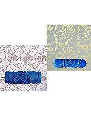 Homyl 2 Piezas Rodillos de Pintura de Pared con Dibujo de Árboles Flores Herramienta para Decoración