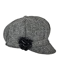 VOBOOM Women's Newsboy Caps Wool Blend Back Adjustable Stretch fit