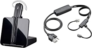 Plantronics-CS540 Convertible Wireless Headset Bundle with Plantronics 38350-13 APC-43 Electronic Hook Switch Adapter, Black