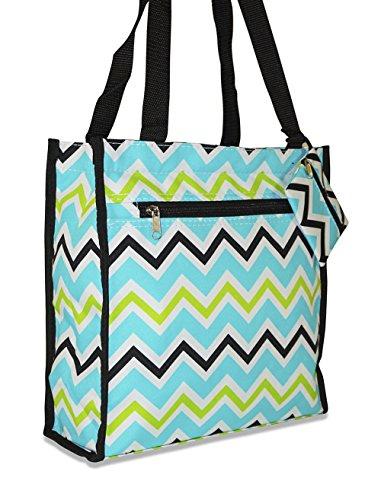 Ever Moda Chevron Tote Bag (Multi Green)