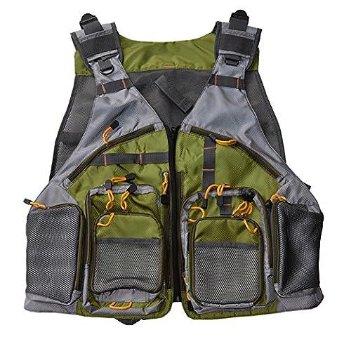 ELEOPTION Multi Pockets Backpack Vests Premium Quality Fly Fishing Vest For Men Women Outdoors Fly Fishing Vest Pack Large Size - Mesh Wader Bag