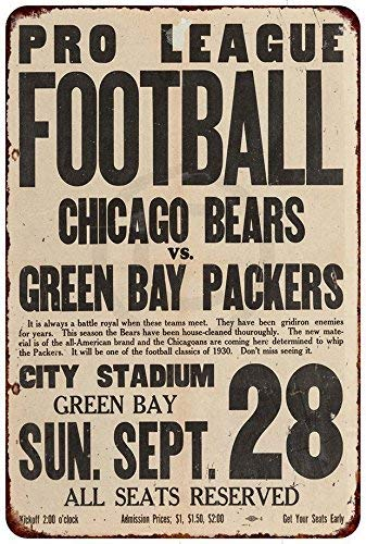 1a410997 Amazon.com: FDerks Chicago Bears vs.Green Bay Packers Retro Vintage ...
