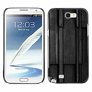 Shell-Star ( Wood Pattern ) Fundas Cover Cubre Hard Case Cover para Samsung Galaxy Note 2 II / N7100