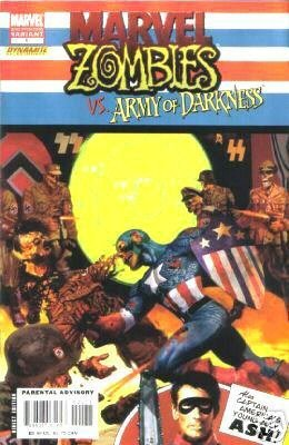 """Download Marvel Zombies Vs. Army of Darkness #1 """"2nd Print Captain America #1 Cover Art"""""""" pdf"""