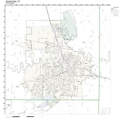 Amazon Com Zip Code Wall Map Of Wichita Falls Tx Zip Code Map Not