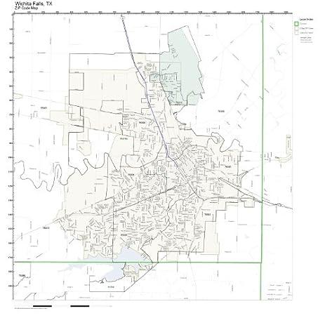 Amazoncom ZIP Code Wall Map of Wichita Falls TX ZIP Code Map Not