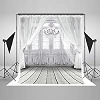 Adele728 6.5ft5ft White curtain photography backdrop