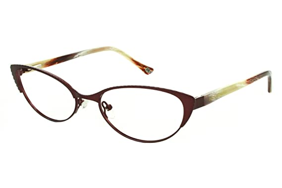 Amazon.com: Lulu Guinness L763 Womens Eyeglass Frames - Burgundy ...