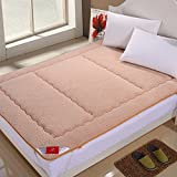 Lamb Thicken Mattress,Collapsible Keep warm Tatami mats For [individual] [double]-A 90x200cm(35x79inch)