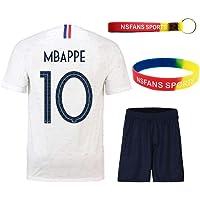 3b27c4ed4567b Ensembles de Sport Maillot de Football Garçon Manche Courte 2 étoiles Suit  de Football