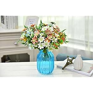 AlphaAcc Artificial Shrubs Bouquet Assorted Colors Flowers Arrangements Home Garden Office Wedding Table Floral Decor Simulation Greenery Plants 120