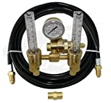 Premium TIG Welding Dual Flowmeter/Regulator with Gas Hose Kit