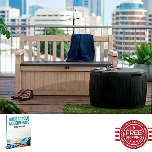 Plastic Storage Bench Garden Storage Box Large Wicker Seat Bench With Storage Outdoor Outside Rattan Lockable Patio Furniture & Ebook by SUMMIT HOME SHOP.