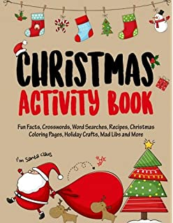 christmas activity book filled with fun christmas activities fun facts crosswords word - Christmas Eve Activities