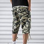 OEAK Shorts Cargo Homme Rétro Baggy Pantacourt Camouflage Outdoor Bermudas Casual Combat Pantalon Court Militaire Multi… 12