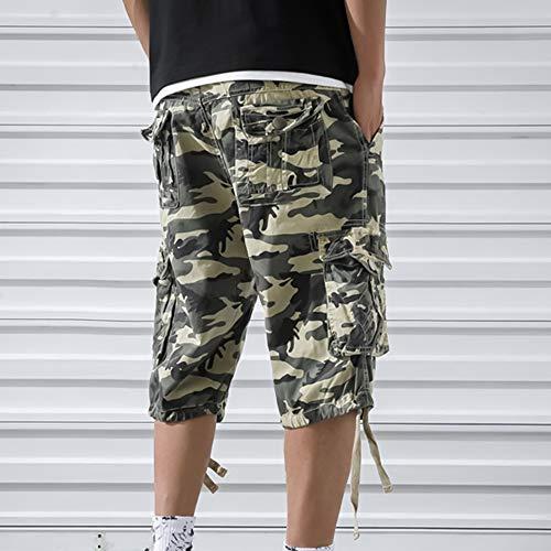 OEAK Shorts Cargo Homme Rétro Baggy Pantacourt Camouflage Outdoor Bermudas Casual Combat Pantalon Court Militaire Multi… 5