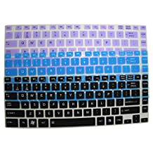"3-Pack Translucent Ultra Thin Silicone Keyboard Protector Cover Skin for Toshiba Satellite E45t E45t-A4100 E45t-A4200 E45t-A4300 P845 P845t P845t-S4305 L800 L805 L830 L840 S40 S40t P840 L40 L40t M800 M805 M840 C800 C800D C805 P800 series (if your ""enter"" key looks like ""7"", our skin can't fit)(Black+Blue+Purple)"