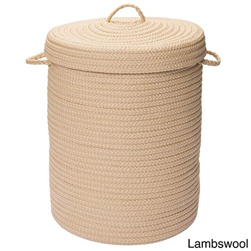 Savvy Textured Portable Lidded Storage Hamper - Lambswool - Made Of A Fade-Resistant Polypropylene, This Large Laundry Hamper Has A Braided Textured Design For Durable, Long-Lasting Use