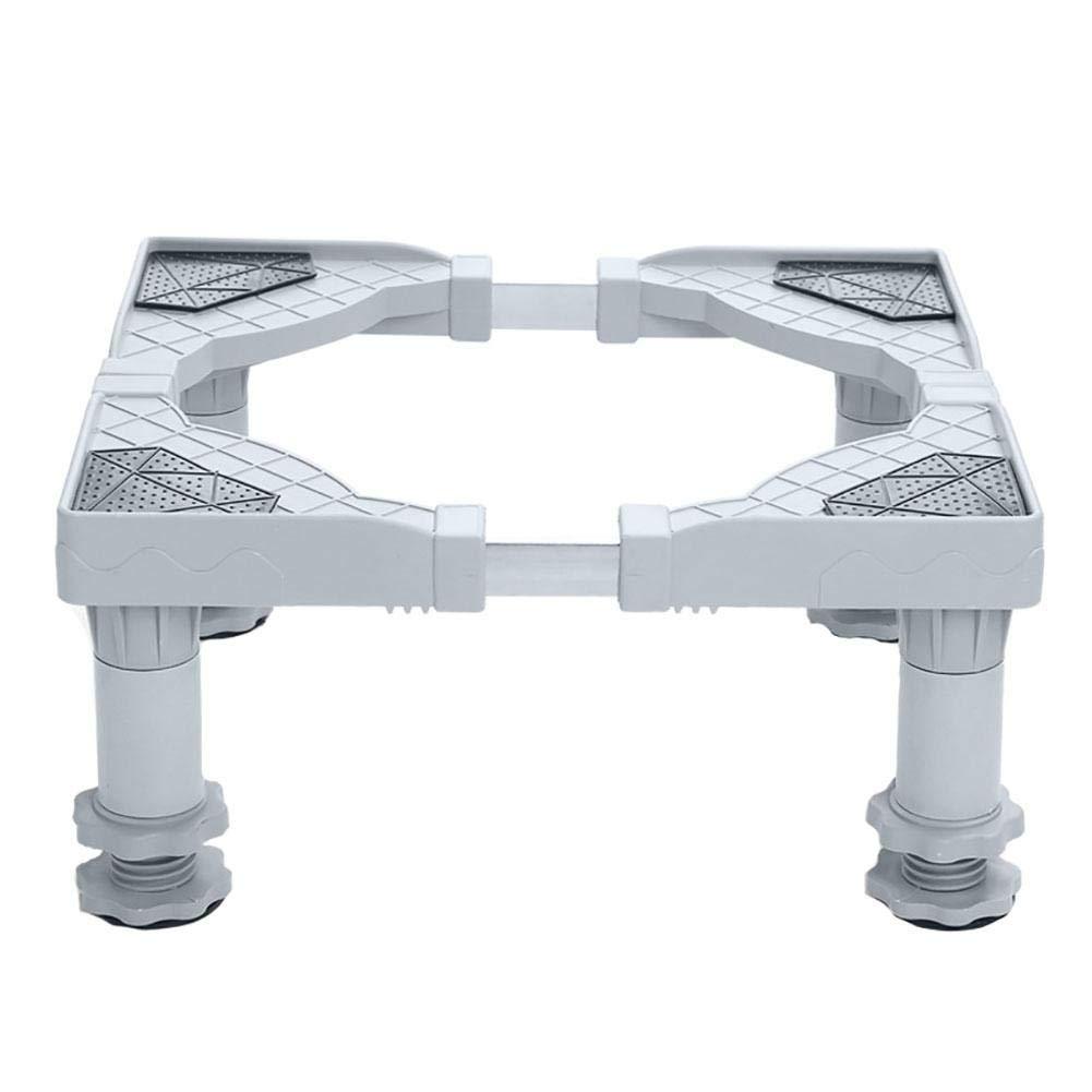 Gereton Base mobile multifunzione regolabile con base mobile 8 rotelle girevoli di bloccaggio in gomma a rotelle per asciugatrice, lavatrice e frigorifero