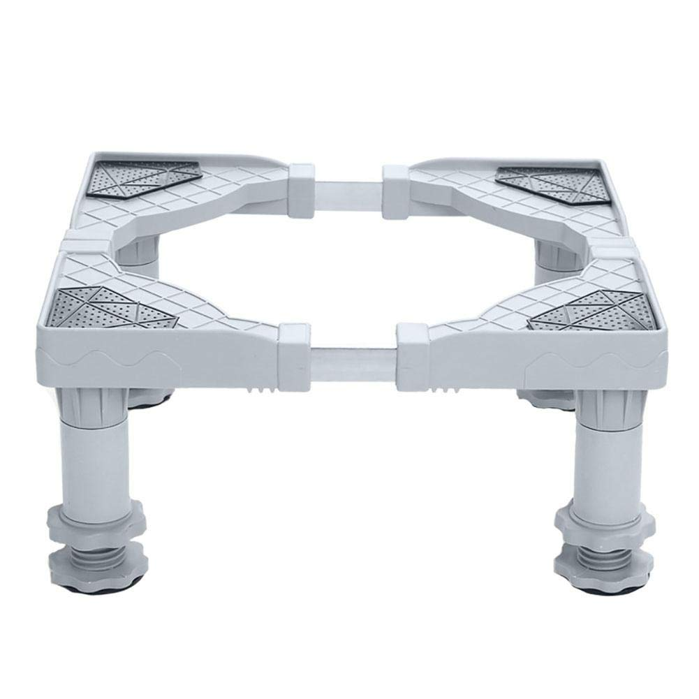 Per Base Vibration Washing Machine Universal Adjustable Stand for Washing Machine and Refrigerator Base Stainless Steel and PP for Appliance