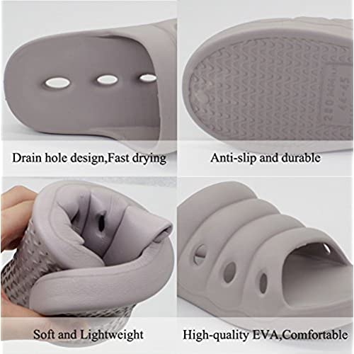 1ffedf9ba Lijeer Shower Shoes Women Men Slippers Bathroom Sandals Massage Rubber Slipper  Non Slip House Plastic Spa