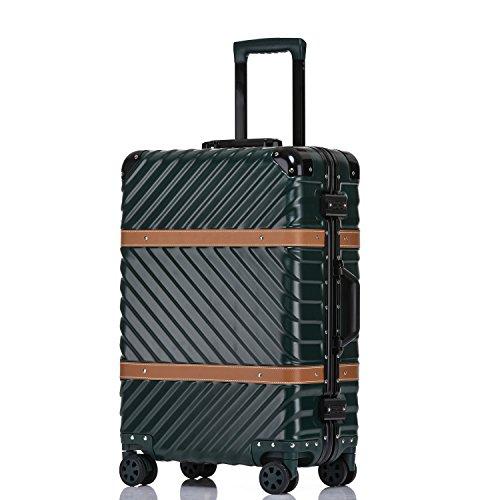 (Unitravel Vintage Suitcase Hardshell Rolling Luggage Spinner Trolley Case With TSA Lock)