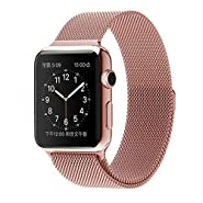 Smarmate 42mm Apple Watch Milanese Loop Stainless Steel Band Mesh Bracelet Strap with Fully Magnetic Closure Clasp