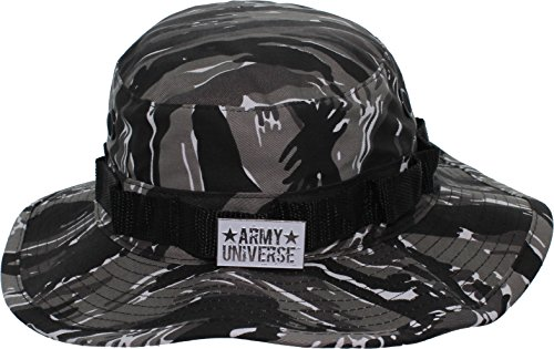 Army Universe Urban Tiger Stripe Camouflage Tactical Boonie Bucket Hat Pin - Size Small 7