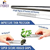 2 Pcs Straight and Curved Tip Tweezers 12
