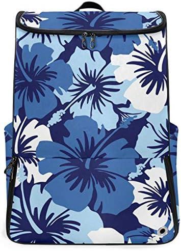 リュック メンズ レディース リュックサック 3way バックパック 大容量 ビジネス 多機能 ハワイの花 スクエアリュック シューズポケット 防水 スポーツ 上下2層式 アウトドア旅行 耐衝撃