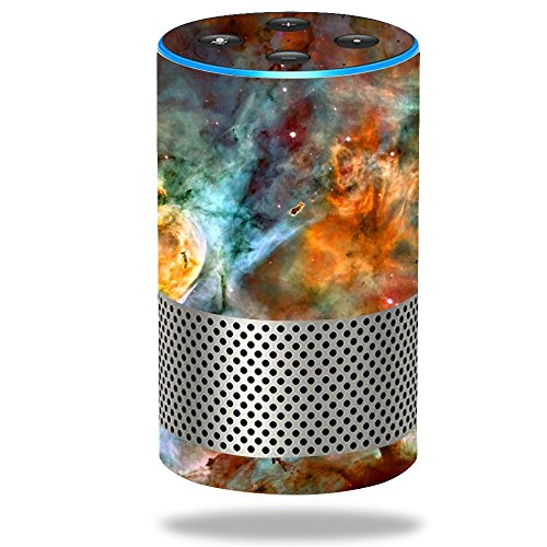 MightySkins Skin Compatible with Amazon Echo (2nd Gen) - Space Cloud | Protective, Durable, and Unique Vinyl Decal wrap Cover | Easy to Apply, Remove, and Change Styles | Made in The USA