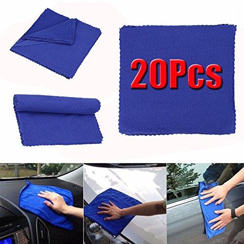 MIJORA-20PCS Blue Absorbent Microfiber Towel Car Home Kitchen Washing Clean Wash Cloth