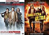 Get High Then Get Into Gun Fights... Stoner Comedies Turn Into Crazy Action Movies: Pineapple Express & American Ultra (DVD Double Feature)