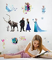 RoomMates RMK2361SCS Frozen Peel and Stick Wall Decals, 36...
