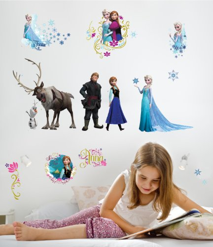 Peel Stick Wall Decals (RoomMates RMK2361SCS Frozen Peel and Stick Wall Decals, 36 Count)