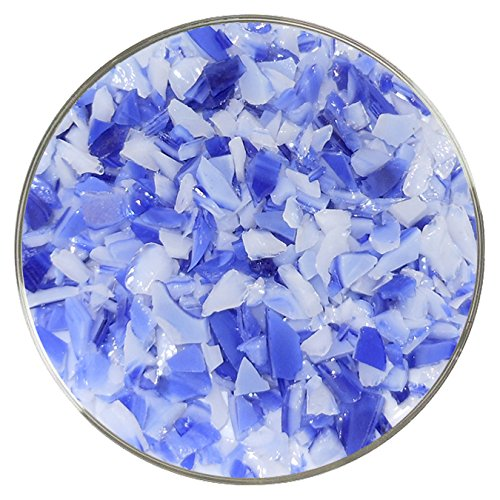 Made from System 96 Glass 4oz New Hampshire Craftworks Limited Edition Cobalt Blue /& White DualTone Fusible Glass Coarse Frit 96COE