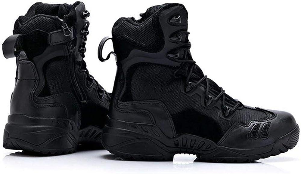 GBRALX Stivali Da Combattimento Militari Da Uomo Desert High Top Camping Arrampicata Stivali Tattici Da Trekking Tan Jungle Athletic Patrol Boots