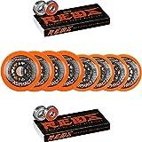 Labeda Asphalt Inline Roller Hockey Wheels 72mm / 80mm Hilo Orange 85A Bones Reds