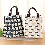 1PC Waterproof Insulated Lunch Bag Portable Picnic Food Container Storage Tote Bags