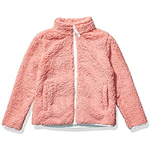 Amazon Essentials Girls' Sherpa Fleece Full-Zip Jackets