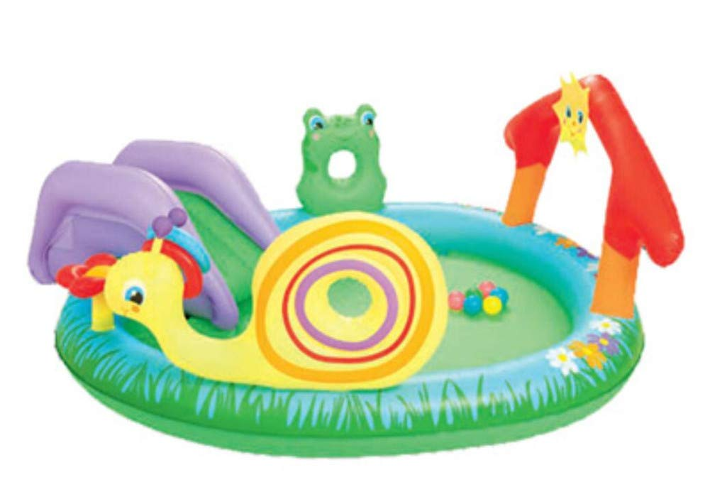 Whryspa Large Animal Children's Swimming Pool Multi-Function Slide Water Spray Inflatable Pool Children's Pool Baby Play Pool Indoor/Garden Suitable for 2-3 People