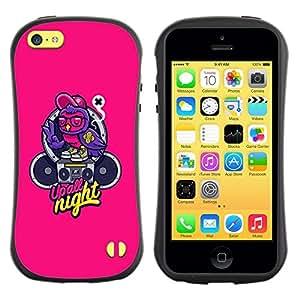 "Pulsar iFace Series Tpu silicona Carcasa Funda Case para Apple iPhone 5C , Música Texto Graffiti Altavoz"""