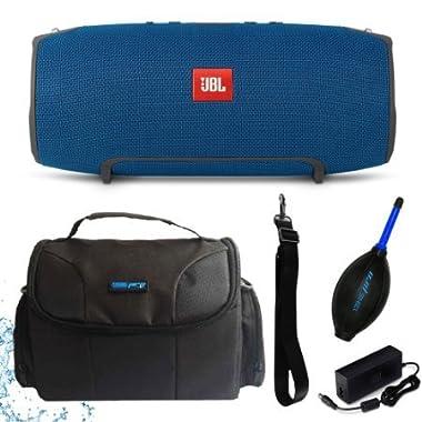 JBL Xtreme Portable Wireless Bluetooth Speaker (Blue) + I3ePro Water Resistant Carry Case + I3ePro Dust Blower