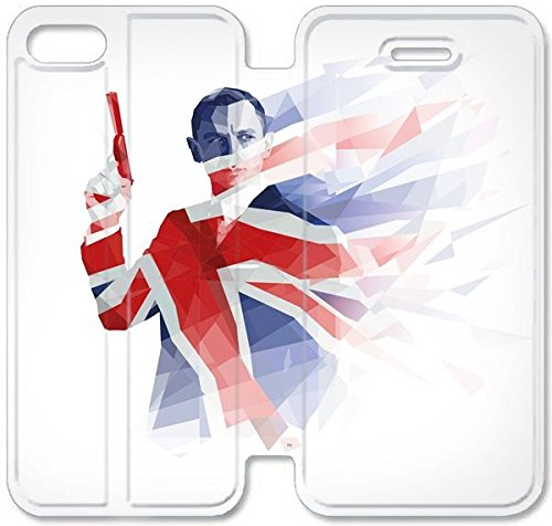 Klreng Walatina® Coque iPhone 6 6s Plus de 5,5 pouces Coque cuir James Bond Skyfall affiche X2O8Gd